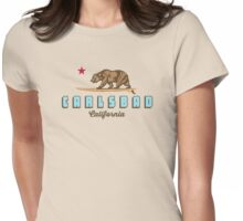 Carlsbad California. Womens Fitted T-Shirt