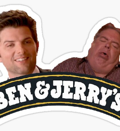 ben and jerry Sticker