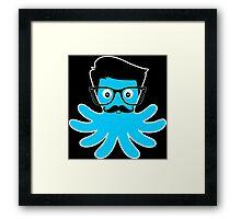 Octopus Hipster Framed Print