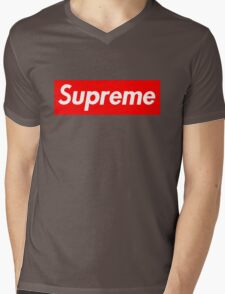 Supreme Mens V-Neck T-Shirt