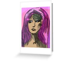 Woman Study Greeting Card