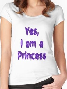 Yes, I am a Princess (Royal Purple) Women's Fitted Scoop T-Shirt