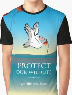 Pelican balloon graphic Graphic T-Shirt