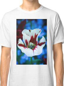 Red & White Iris Classic T-Shirt