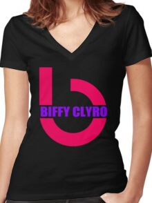 Biffy Clyro Symbol Women's Fitted V-Neck T-Shirt