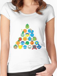 Pokemon Starter Pyramid Women's Fitted Scoop T-Shirt