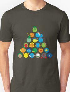 Pokemon Starter Pyramid Unisex T-Shirt