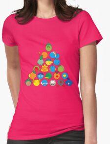 Pokemon Starter Pyramid Womens Fitted T-Shirt