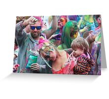 HOLI Color Festival, Family Style! Greeting Card