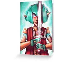 Warrior Elf Greeting Card