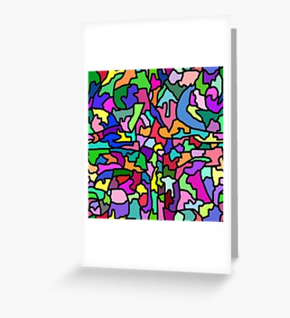 Funky Colorful Mosaic Greeting Card