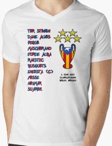 Barcelona 2015 Champions League Final Winners Mens V-Neck T-Shirt