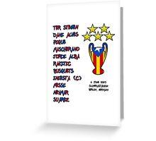 Barcelona 2015 Champions League Final Winners Greeting Card