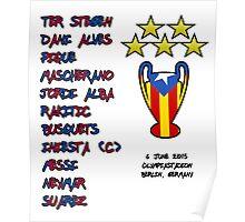 Barcelona 2015 Champions League Final Winners Poster