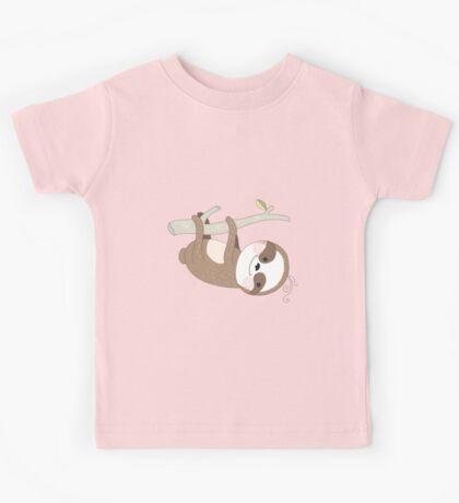 Cartoon Animals Just a Sloth Kids Tee