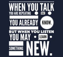 Listen to learn Kids Tee