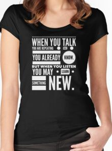 Listen to learn Women's Fitted Scoop T-Shirt