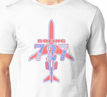 Red and Blue 727 Unisex T-Shirt