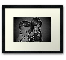 Young Love and Peace Framed Print