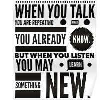Listen to learn Poster