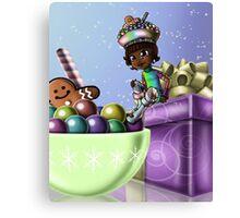 Sweet Christmas Candy Joy Canvas Print