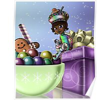Sweet Christmas Candy Joy Poster