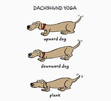 Dachshund Yoga Womens Fitted T-Shirt