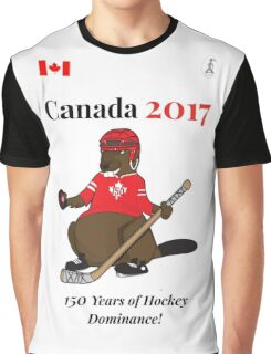 Canada 150, Canada 2017 & Canada Day Shirts & Souvenirs - Canadian Hockey, Curling, July 1 Party, Cool and Heritage Beaver Shirt Selection! Graphic T-Shirt