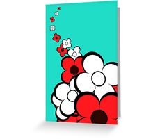 Light Red & White Flowers Greeting Card