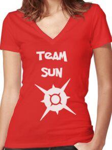 Team Sun Women's Fitted V-Neck T-Shirt