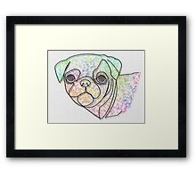 Wire Pug Framed Print