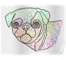 Wire Pug Poster