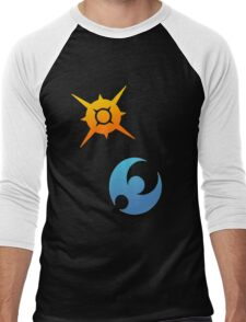 Pokemon Sun and Moon Symbols Men's Baseball ¾ T-Shirt