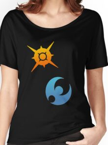 Pokemon Sun and Moon Symbols Women's Relaxed Fit T-Shirt