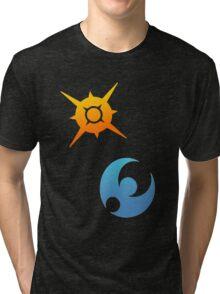 Pokemon Sun and Moon Symbols Tri-blend T-Shirt