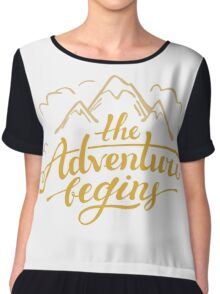The Adventure Begins, Mountains Chiffon Top