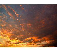 Cloudy Sunset Photographic Print
