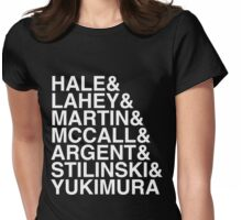 McCall Pack (Season 3B) - white text (v1) Womens Fitted T-Shirt