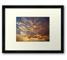 Glowing Clouds Framed Print