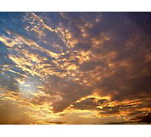 Glowing Clouds Photographic Print