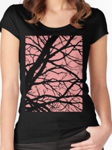 Bold Pink Tree Women's Fitted Scoop T-Shirt