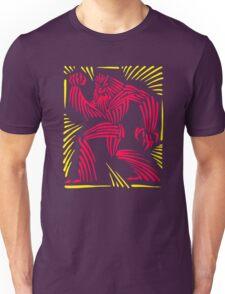 Bigfoot Woodcut Graphic Unisex T-Shirt