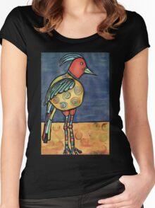 Lolly legged bird Women's Fitted Scoop T-Shirt