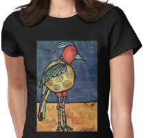 Lolly legged bird Womens Fitted T-Shirt