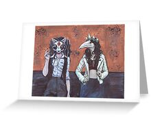 Animal Girls Greeting Card