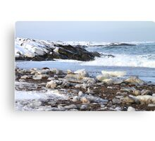 Ice & Breakers at Hudson Bay Canvas Print