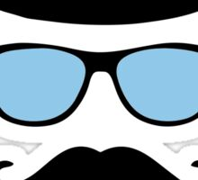 Mustache disguise Hipster retro vintage graphic Sticker