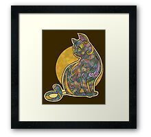 Multi-colored Cat Graphic Framed Print