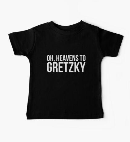 Heavens to Gretzky (white text) Baby Tee