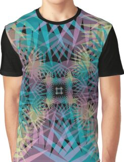 Tropical Infinity Mirror Graphic T-Shirt
